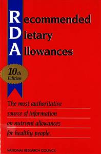 Book Report Pdf Recommended Dietary Allowances 10th Edition The