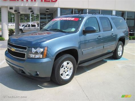 2009 blue granite metallic chevrolet suburban lt 30598773