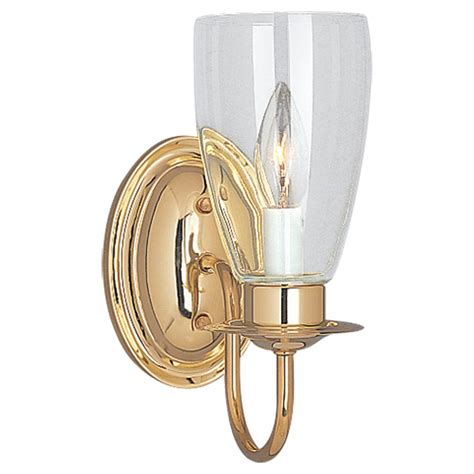 wall sconce lighting 4167 02 one light wall sconce polished brass