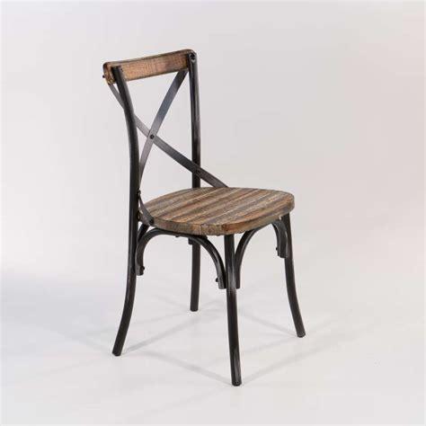 chaise antique en bois chaise bistrot vintage en bois et métal patiné madie 4
