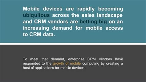 3 Great Ways For A Salesperson To Use Crm On Their Mobile Phone
