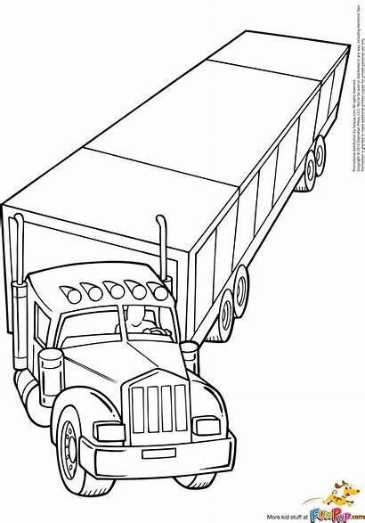 Coloring Semi Truck Pages Mack Logging Wheeler