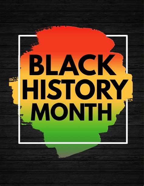 black history month template postermywall