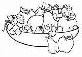 Fruit Coloring Bowl Printable sketch template