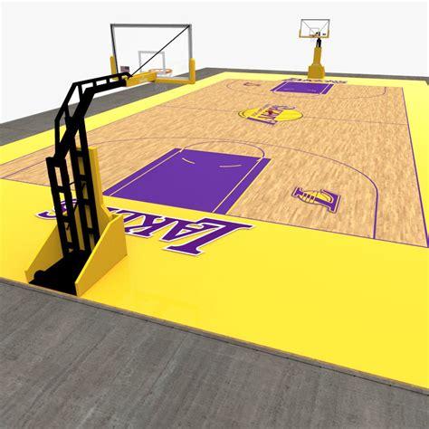 basketball court  model game ready fbx cgtradercom
