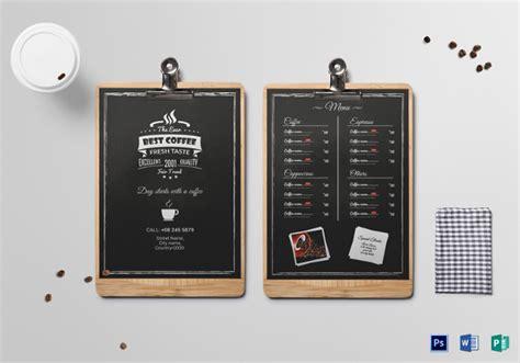 menu board templates  sample  format
