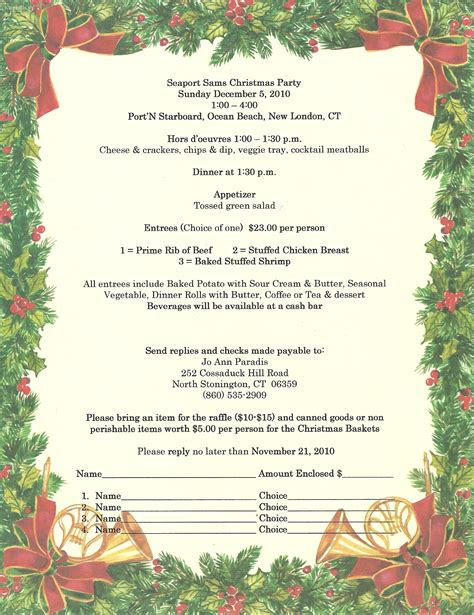 invitation wording sles for christmas party invitation ideas