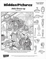 Hidden Puzzles Printables Printable Highlights Objects Attic Object Dress Fall Pages Classroom Puzzle Coloring Games Worksheets Children Toolbox Adult Escondidos sketch template