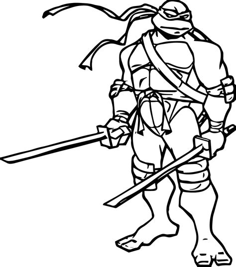Tmnt Coloring Pages Leonardo Coloring Page