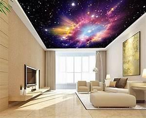 Plafond Tendu Imprim U00e9 Personnalis U00e9 Paysage Univers Nuage