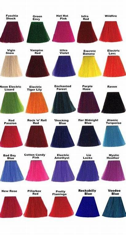 Hair Panic Manic Colors Dye Names Different
