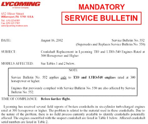 cannondale mandatory service bulletins aircentre aviation news digest august 2002 week four