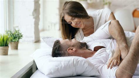 young beautiful  loving couple wake    morning