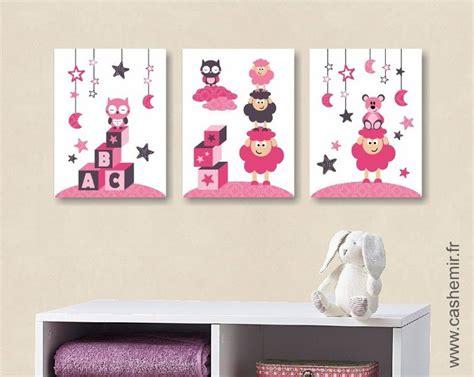 affiche chambre bebe poster affiche lot de 3 illustrations pour chambre d