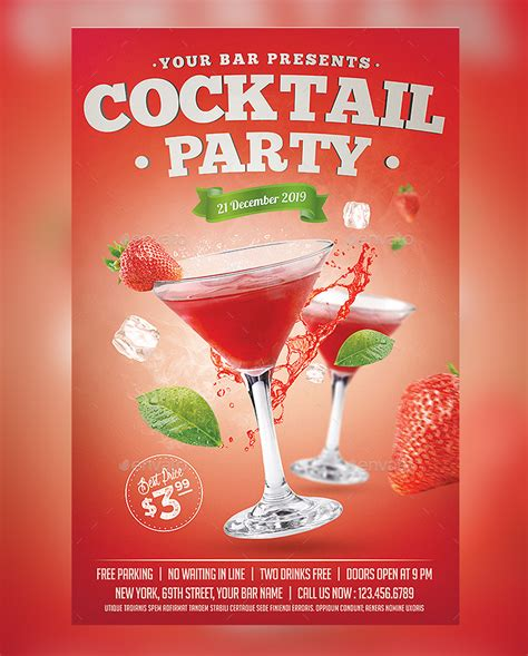 25 Cocktail Party Flyer Psd Templates Free & Premium