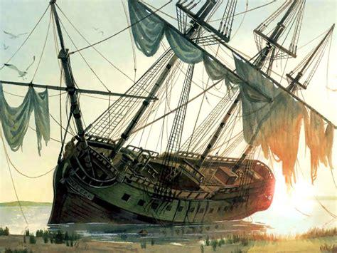 revenge queen anne blackbeard ship pirate wooden sinking wreckage annes ships