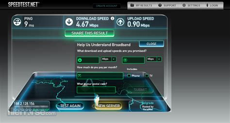 speedtestnet find   internet connection speed