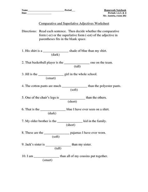 pin  comparative superlative adjectives