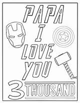 Coloring Papa Printable Father Thousand sketch template