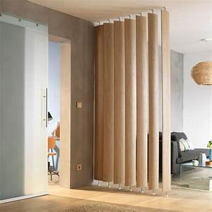 Ella White oak Room divider single blade Departments