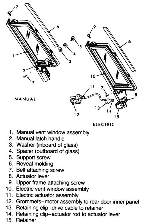 | Repair Guides | Interior | Rear Door Vent Window