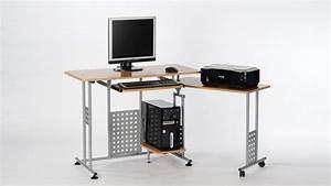 Computertisch Auf Rollen : computertisch marc in buche drehbare ablage mit rollen 120 ~ Watch28wear.com Haus und Dekorationen