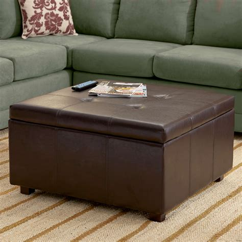 New patio furniture replacement slings. 10 Extra Large Leather Ottoman Coffee Table Gallery