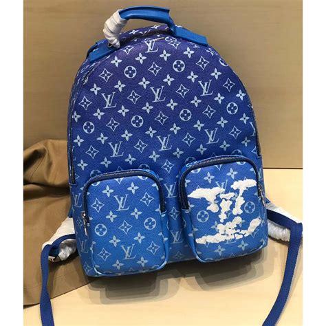 louis vuitton monogram blue backpack bagbackpacks