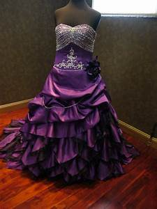 Breathtaking royal purple wedding dress by for Royal purple and white wedding dress