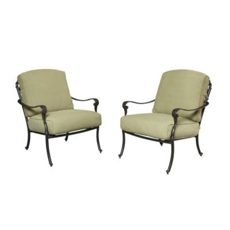 hton bay edington cast back pair of patio lounge chairs