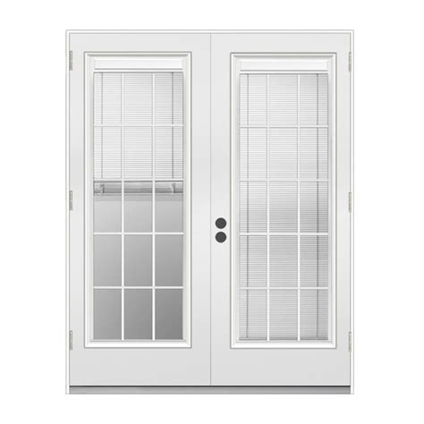 lowes patio doors with blinds shop reliabilt 71 5 in blinds between the glass steel