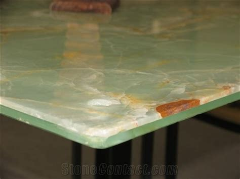 tempered glass countertop white onyx with tempered glass edges j062 from china