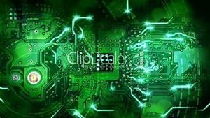 Green Computer Circuit Board Background Loop  Royalty