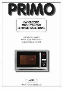 Primo Mg8 Microwave Oven Download Manual For Free Now