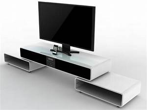 meuble tv home cinema integre acoustic blanc With meuble tv avec home cinema integre