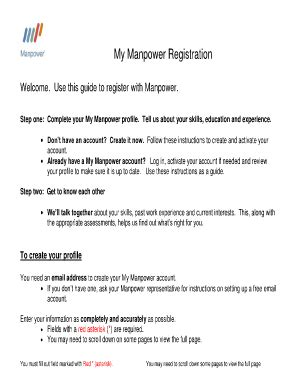 My Manpower Account Login  Fill Online, Printable