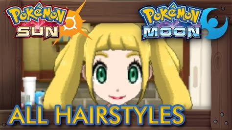pokemon sun  moon  hairstyles male female