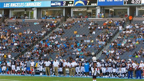 chargers unfazed  small crowd  carson opener