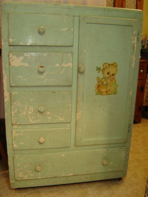 Childrens Wardrobe Armoire by Vintage Baby Child Armoire Closet Bureau Chiffarobe