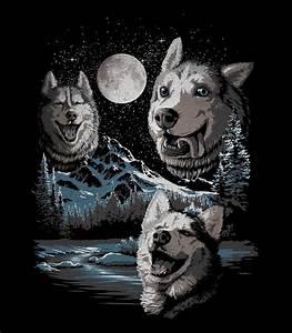 Three Derp Huskies Men 39 S Funny T Shirt Headline Shirts