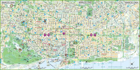 Carte De Pdf by Carte De Barcelone Cartes Plans De Barcelone