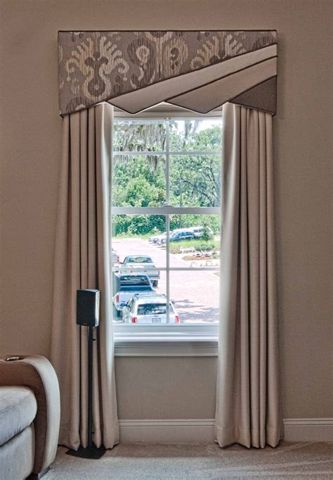 Contemporary Window Cornice by Contemporary Window Treatment Design With A 4 Split