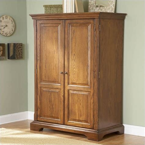 bowery hill computer armoire in warm oak bh 433107