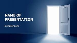 Download free Open The Door PowerPoint theme for presentation