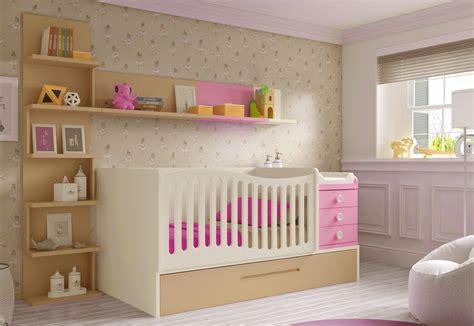 chambre fille bébé lit bébé fille 2 évolutif bc30 avec étagère déco