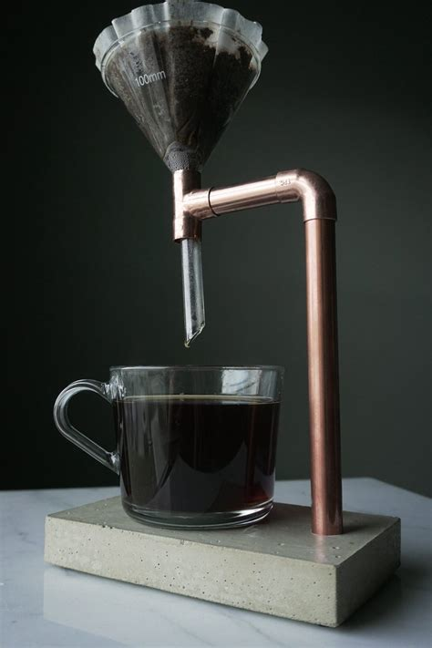 That said, its unique design certain makes it feel a lot more substantial than some of the other pour overs on this list. Concrete and Copper Pour Over Coffee Maker | Drip Coffee Maker | Coffee | Minimal | Industrial ...