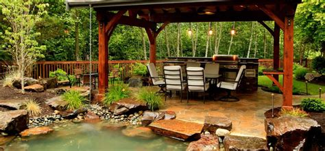 suburban backyard oasis