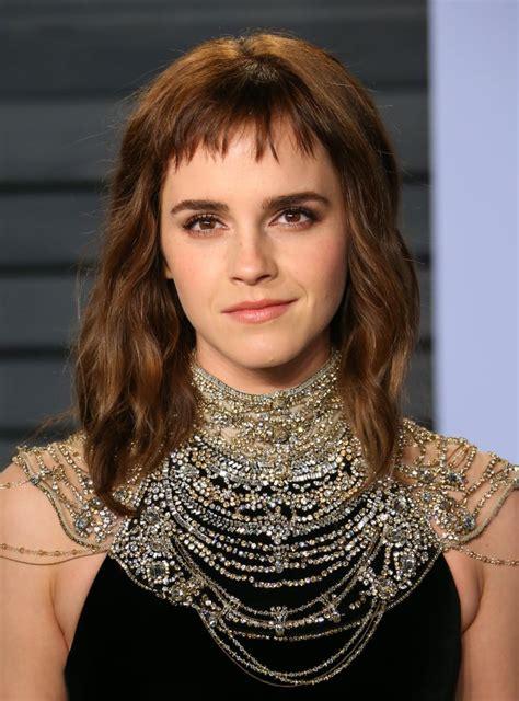 Emma Watson Bob Haircuts With Bangs Popsugar