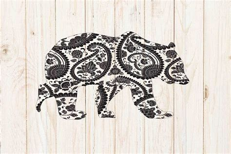You must have an electronic cutting machine that reads svg or eps files to use these designs like the silhouette. Mandala bear svg #ad.   Mandala, Svg, Graphic illustration