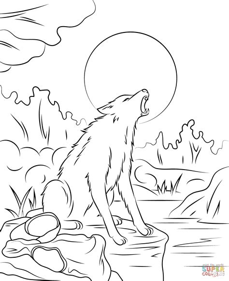 Goosebump The Werewolf Coloring Page Free Printable